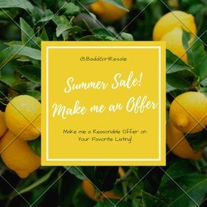 Summer Time Sale! Make me an Offer